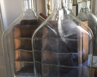 Two laboratory flasks