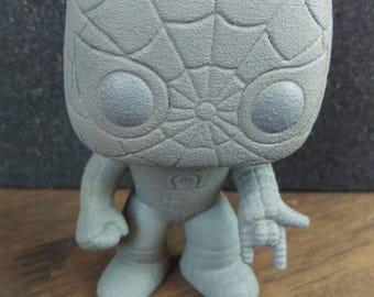 Custom funko pop spiderman in textured stone finish