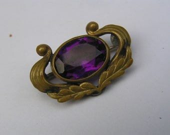 Antique Gold Filled  Pin Brooch . Victorian Jewelry