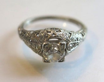 Antique Engagement Ring 1890's
