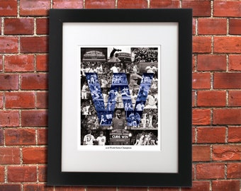 Chicago Cubs - World Series - Art Collage - Limited Edition - 11x14 Print - Illinois Art - Only 750 Prints Made