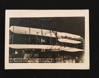 "Vintage Photo of the Wright Brothers' ""Kitty Hawk"", Original Snapshot Photograph"