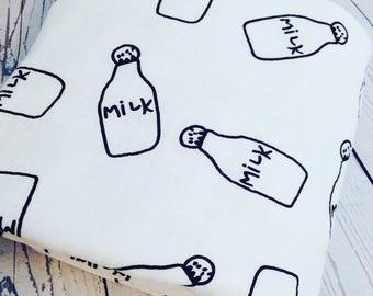 Muslin swaddle blanket-Milk bottle  swaddle- Baby blanket-Baby shower gift- Muslin  Cotton  swaddle blanket-Receiving blanket-Gauze blanket