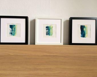 Minimal acrylic painting on paper