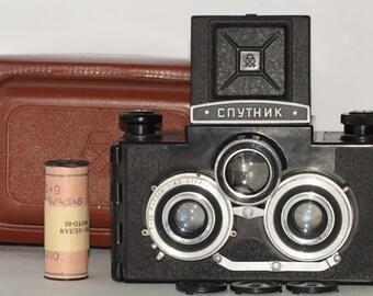 SPUTNIK. Soviet Camera. Twin Lens. Reflex. Stereo Camera. LOMO