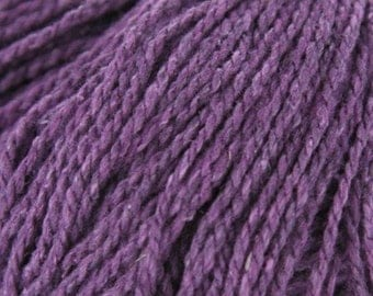 Elsebeth Lavold Silky Wool, A Hemp and Wool Worsted Weight Yarn Purple, Green,  Blue, Rust Brown and Dark Brown