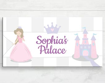 Princess Door Sign, Palace Door Sign, Kid's Door Plaque, Girl Name Door Sign, Personalized Print, Princess Theme Decor, Princess Nursery