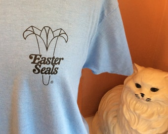 Vintage 80s TShirt, Easter Seals, Charity, Screen Stars ( B150)