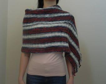 Crochet Shawl, Rectangular Crochet Shawl, ND0064