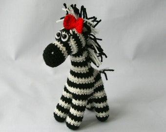 Zebra toy Crochet Zebra toy Zebra plushie Zebra soft toy Zebra Amigurumi Zebra suffed toy Gift for children Handmade Zebra toy Zoo animals