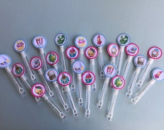 Shopkins Party Favors,Shopkins Bubble Wands, Shopkins Bubbles, Shopkins Birthday, Shopkins, Shopkins Goody Bag,Bubble Wands, Set of 12