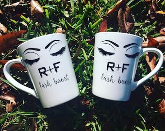 Eyelashes mug - Rodan + fields mug - R+F mug - Rodan + Fields consultant gift - rodan and fields mug - lash boost mug -