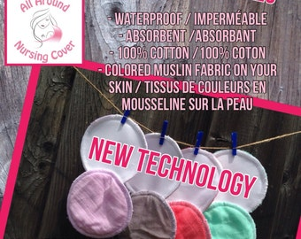 New Technology - 4 Pairs Washable Nursing Pads - NO LEAK WARRANTY