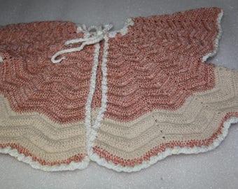 crochet baby jacket handmade baby jacket 3- 6 months baby knit vintage pattern baby crochet jacket