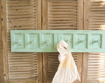Hook rail clothes Shabby Chic turquoise