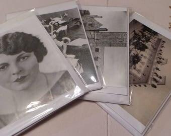 Vintage Postcard Greetings Cards, with Envelopes, Blank, Pack of 4