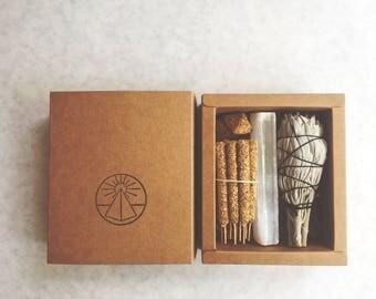Palo Santo incense sticks + Smudge Offerings. Palo Santo Incense. Selenite .Sweetgrass. Sage