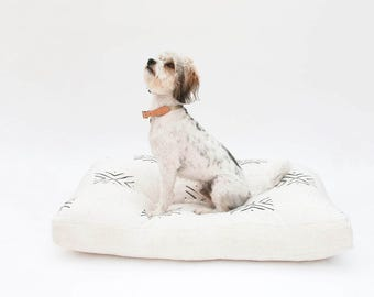 Custom Mudcloth Dog Bed