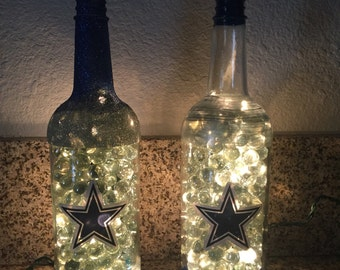 Lighted Dallas Cowboys Bottle