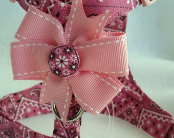 Pink Bandana Small Dog  Harness