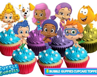 Bubble Guppies Cupcake toppers/ Bubble guppies Printables/ Bubble Guppies Cake Toppers/ Instant Download/ You Print 60% OFF