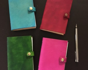 A6 Coloured Leather Journals