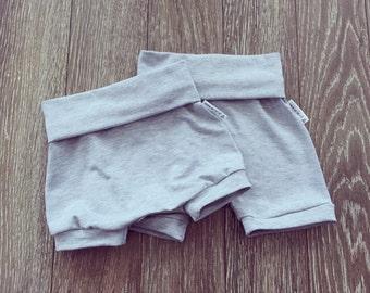 Light grey bamboo shorts