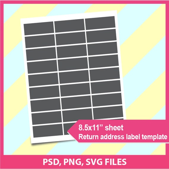 Return address label template psd png and svg formats 8 for Demco label template