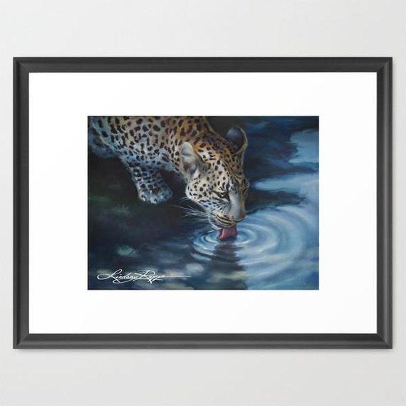 African Leopard - Framed Paper Print