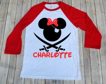 Disney Pirate Shirt, Minnie Pirate, Disney Pirate, Disney Cruise, Disney Inspired Adult Shirt, Disney Family Shirts, Mickey Pirate Shirt