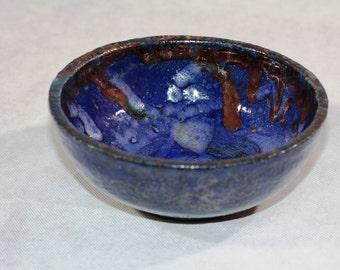 Raku Cobalt Bowl