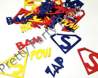 Over size Superman Party Confetti, Super Hero Party Confetti 100 piece