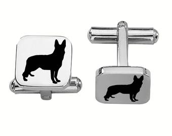 German Shepherd Cufflinks | Dog Cufflinks | Custom Cufflinks | Stainless Steel