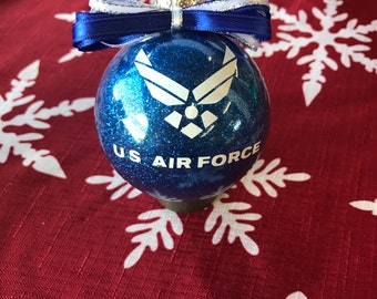 Air Force Ornament, US Air force, military ornament, Air Force Gift, Air Force support, Air Force wife, air force mom, air force family,