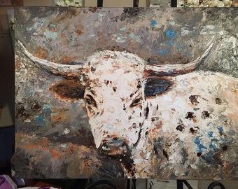 Oil, Original, Bull, Ol Bartholomew