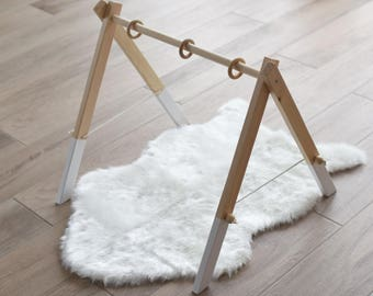 Modern Wooden Baby Gym / Activity Center / Stylish and Natural Nursery Decor / Baby Activity Gym / Wooden Frame/ Wooden Gym/ Baby Gym