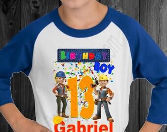 Bob the Builder Birthday Shirt/Bob the Builder Family Shirts/Bob the Builder Custom Shirt/Bob the Builder Shirt/Bob the Builder T-shirt