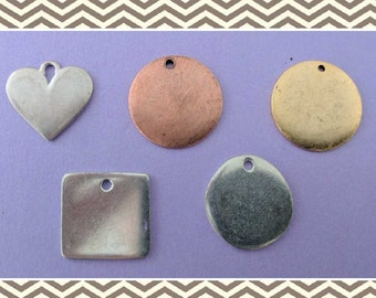 15-20mm Pewter ID Tags
