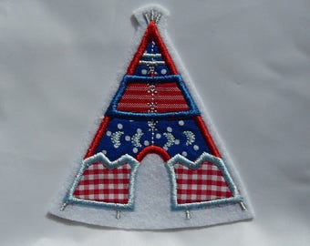 Indian Tepee, Wigwam, tipi patch, Applikaton