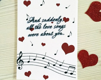Music Notes Valentine's Day Card