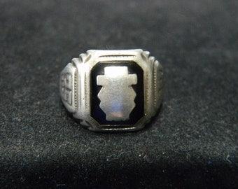 Vintage Sterling Silver 1935 Class Ring LGB= Lloyd Garfield Balfour