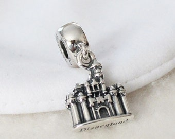 Disney Parks Exclusive SLEEPING BEAUTY CASTLE Charm / New / Sterling Silver / s925 / Threaded / Fully Stamped