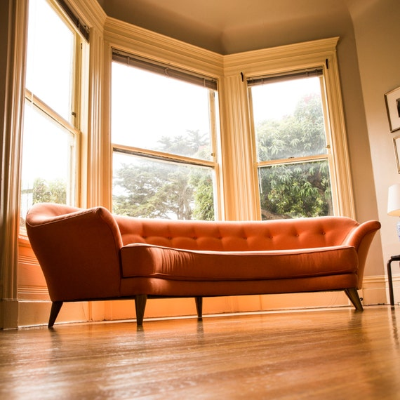 The fillmore bay window sofas for Window sofa furniture