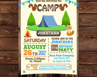 camping tent birthday invitations camping party invitations summer camp invitation template summer camp - Camping Party Invitations