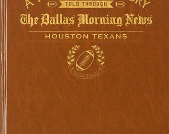 Dallas Morning News Houston Texans Football Book - Leatherette - without embossing on front cover