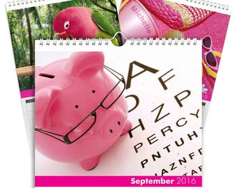 All Things Pink A5 Calendar
