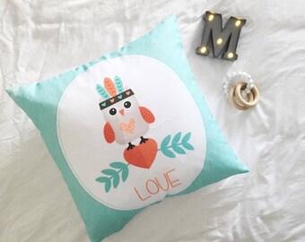 Owl - Decorative Pillow Case, Throw Cushion Case, Pillow Cover, Decor, Throw Pillow Case, Cushion Cover