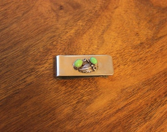 Money Clip with Gaspeite Stones