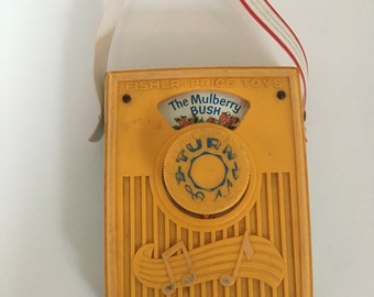 Spieluhr The Mulberry bush Pocket Radio Fisher Price vintage retro 70er