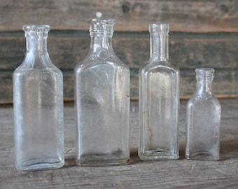 Set of 4 medicine bottles